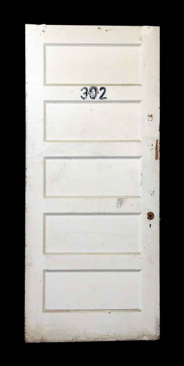 White Wood Apartment Door - Standard Doors