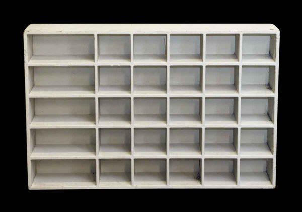 White Wooden Console - Shelves & Racks