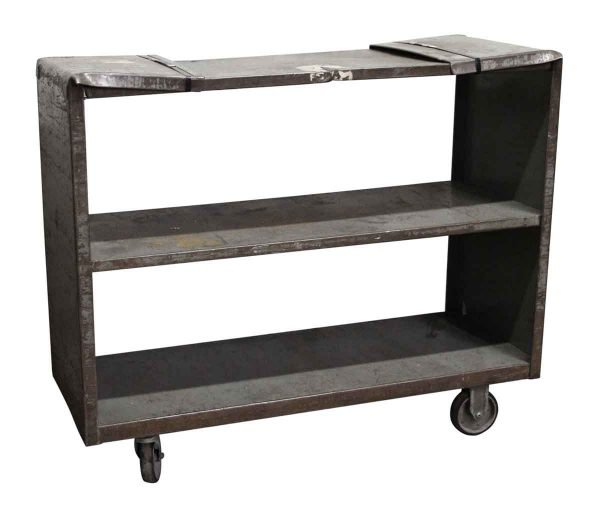 Salvaged Industrial Steel Cart - Carts
