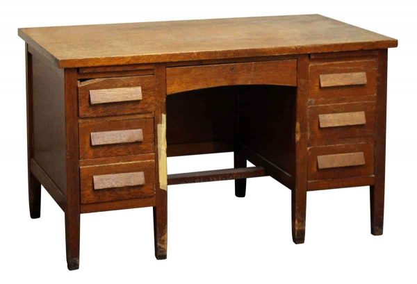 Restorable Solid Oak Arts & Crafts Desk - Office Furniture