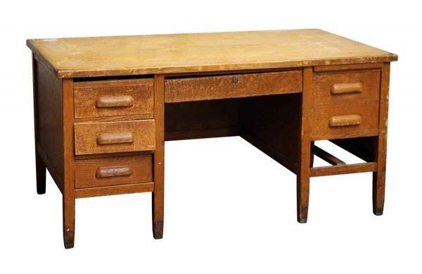 Large Restorable Solid Oak Desk - Office Furniture