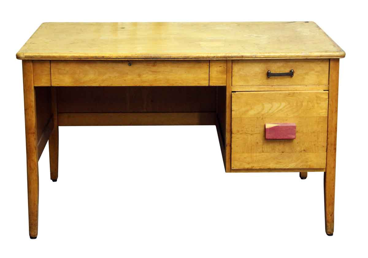 Old Wooden Desk With Three Drawers