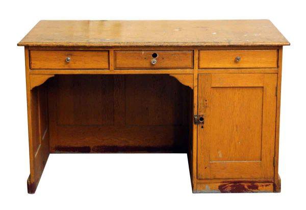 Restorable Oak Library Desk - Office Furniture