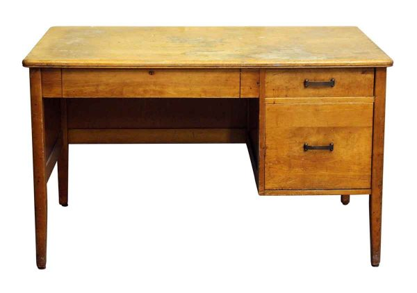 Mid Century Maple Desk - Office Furniture
