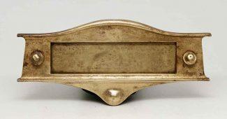 decorative polished brass mail slot