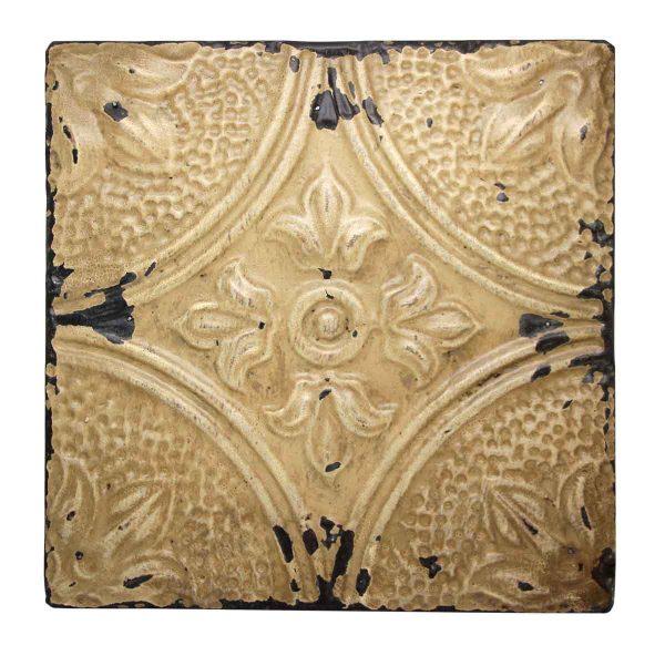 Tan Tin Corner Tulip Antique Panel - Tin Panels