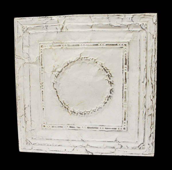 White Tin Panel with Wreath - Tin Panels