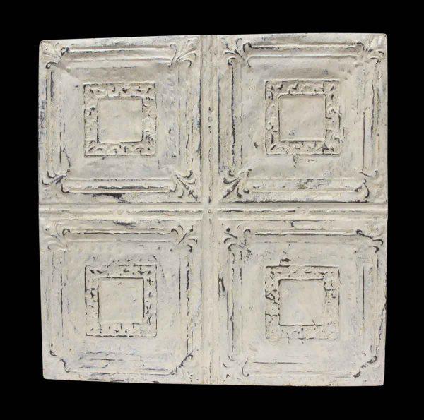 Decorative White Quadrant Tin Panel - Tin Panels