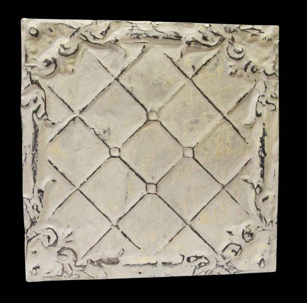 White Weave Tin Antique Panel - Tin Panels