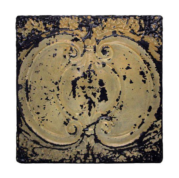 Tan & Black Decorative Tin Panel - Tin Panels