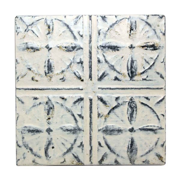 White Tin Panel with Decorative Quadrants - Tin Panels