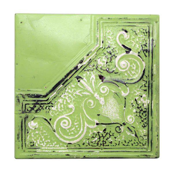 Green Tin Decorative Panel - Tin Panels