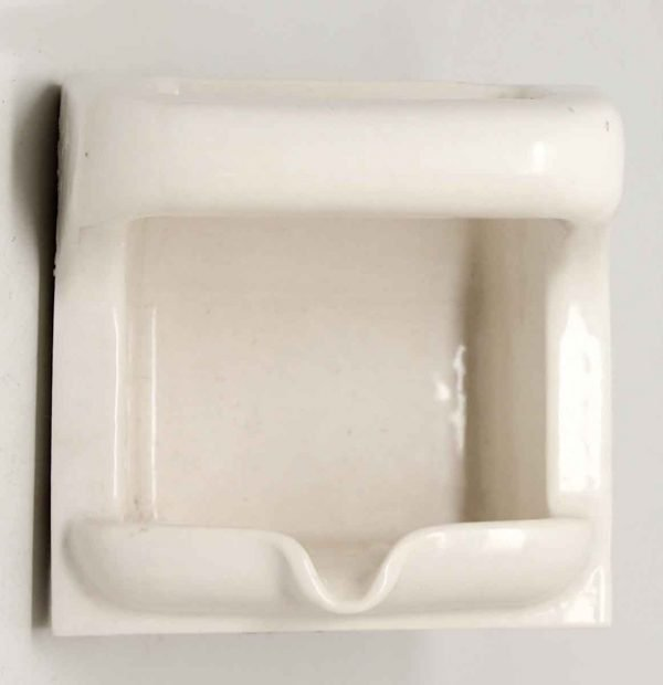White Ceramic Soap Flush Mount Dish - Bathroom