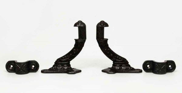 Pair of Cast Iron Stair Rail Hooks - Railing Hardware