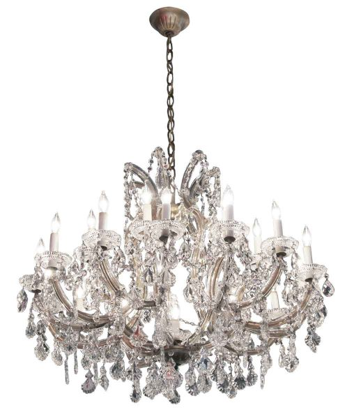 Pair of 22 Light Marie Therese Crystal Chandeliers - Chandeliers