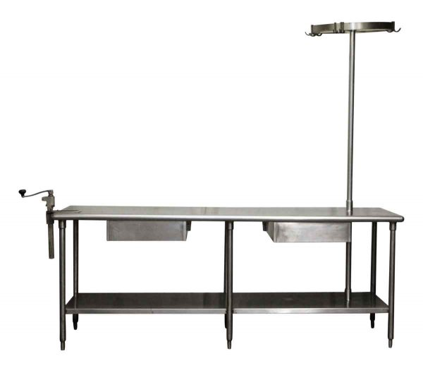 Industrial Kitchen Table with Hook Rack - Kitchen