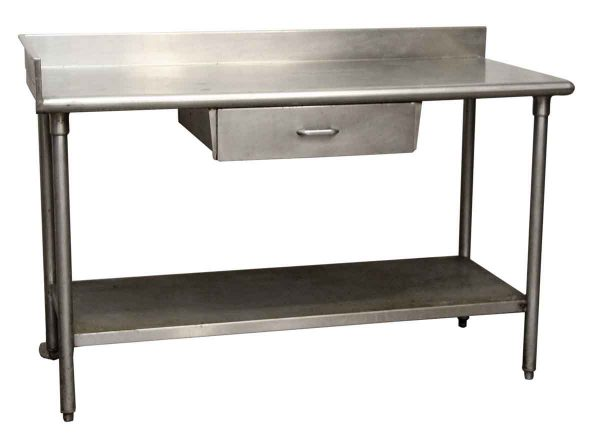 Single Drawer Steel Table - Kitchen
