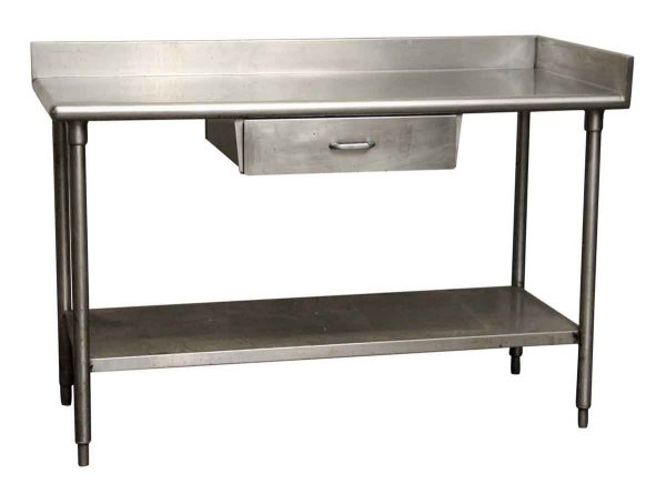 Single Drawer Industrial Steel Table - Kitchen