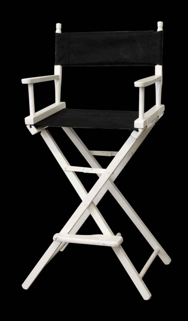Black & White Gold Medal Directors Chair - Seating