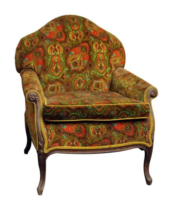 1970s Colorful Paisley Armchair - Living Room