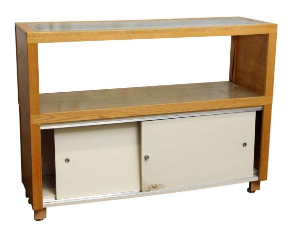 Modern Light Wood Glass Top Showcase - Commercial Furniture