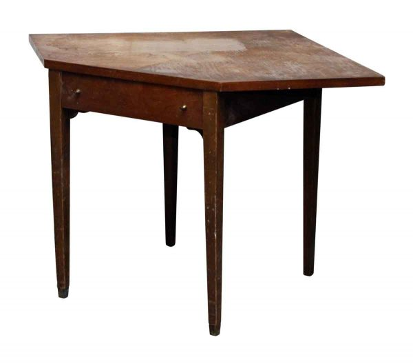 Art Deco Wood Corner Table - Living Room