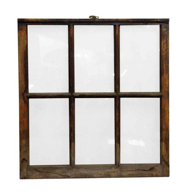 Six Paned Wood Frame Window - Reclaimed Windows