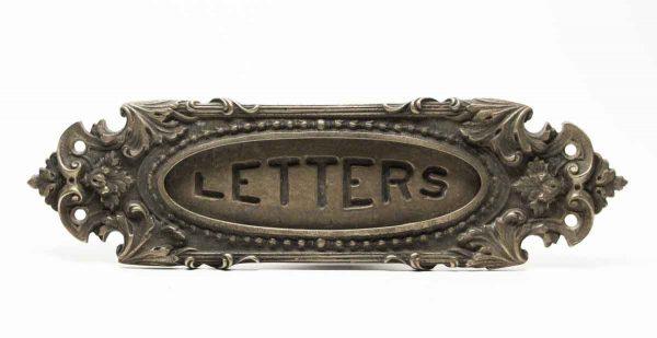 Decorative Bronze Ornate Letter Slot - Mail Hardware