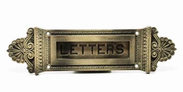 Single Neoclassical Letters Slot - Mail Hardware