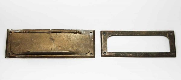 Bronze Mail Slot & Back - Mail Hardware