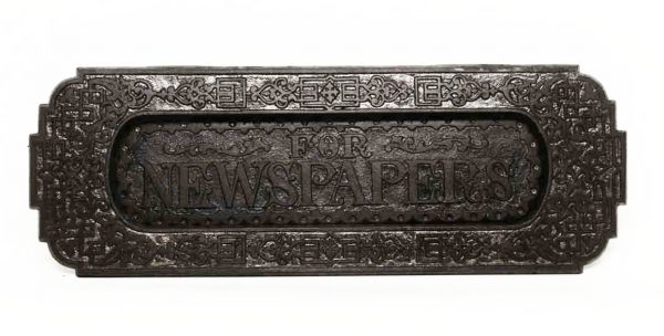 Cast Iron Newspaper Slot - Mail Hardware