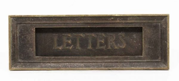 Single Bronze Letter Slot - Mail Hardware