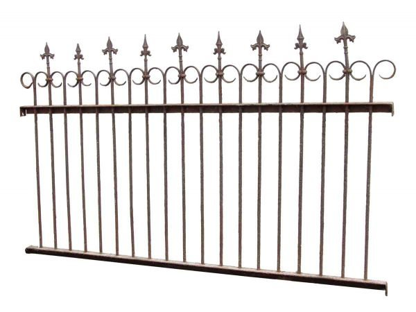 Classic Finial Wrought Iron Fence with Gate & Posts - Fencing