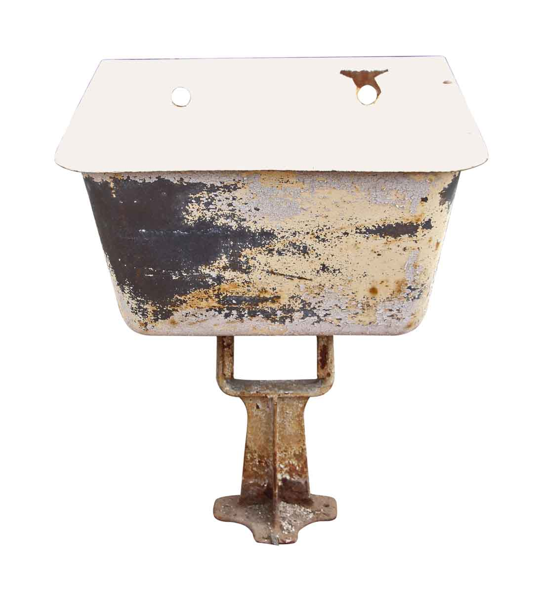 Enamel Over Iron Utility Sink On A Cast Iron Pedestal Olde Good Things