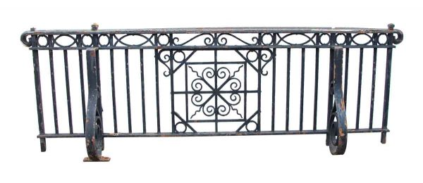 Wrought Iron Juliet Balcony with Ornate Mounting Brackets - Balconies & Window Guards
