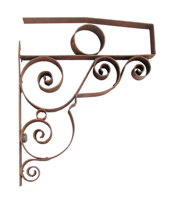 Wrought Iron Scrolled Sign Bracket - Shelf & Sign Brackets