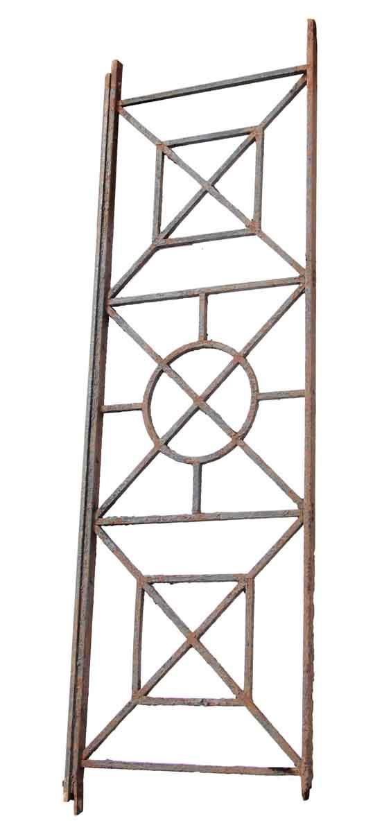 Cast Iron Beaux Arts Balcony Railing with Geometric Design - Balconies & Window Guards