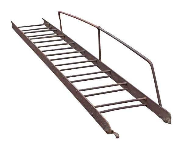 Industrial Fire Escape Ladder with Hand Rail - Ladders