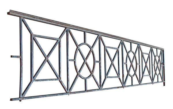 Beaux Arts Balcony Railing with Geometric Design - Balconies & Window Guards