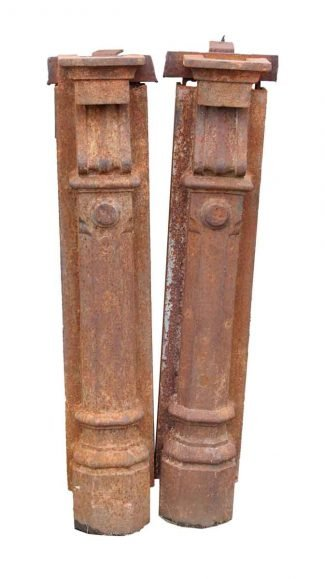 Cast Iron Beaux Arts Pilaster Newel Posts