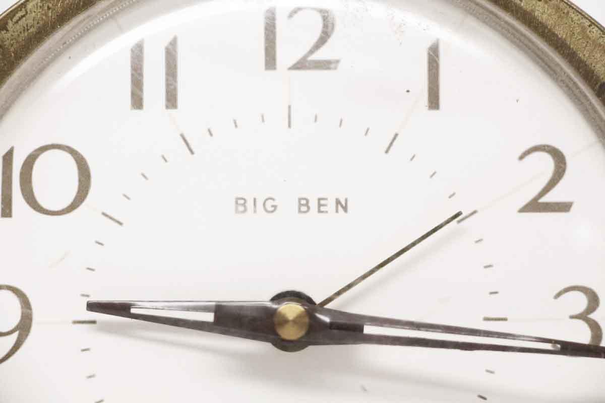 Westclox Big Ben Plastic And Brass Alarm Clock Olde Good Things