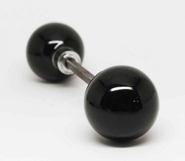 Black Glass Ball Knob Set - Door Knob Sets