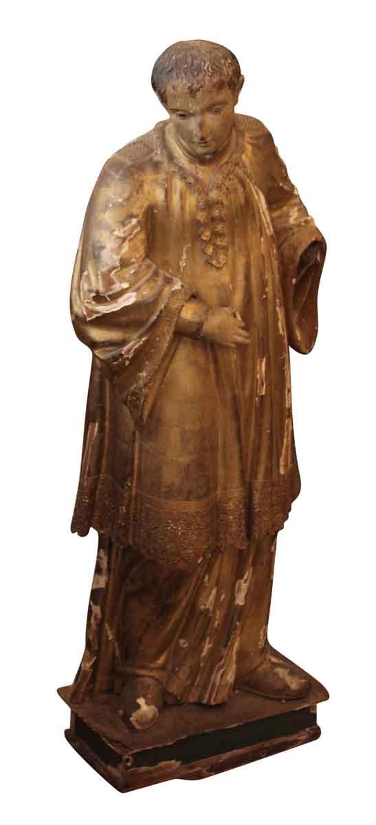 Wood & Plaster Choir Boy Statue - Statues & Sculptures