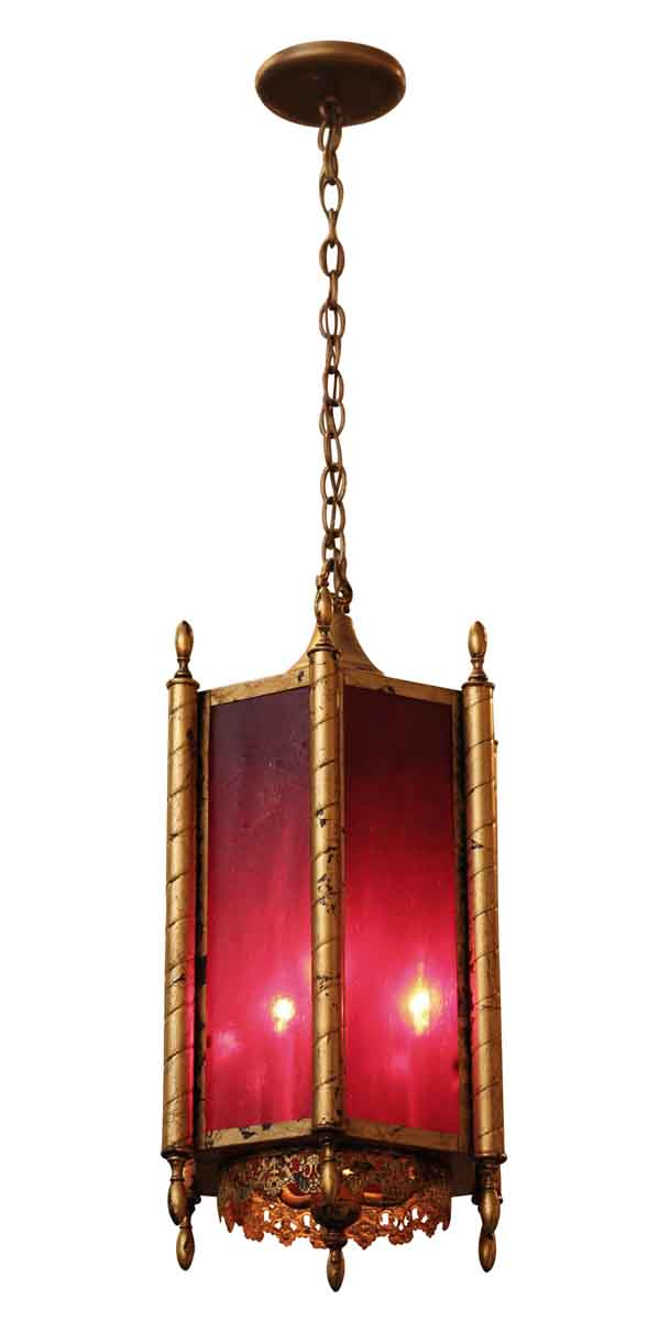 Red & Gold Victorian Lantern - Wall & Ceiling Lanterns