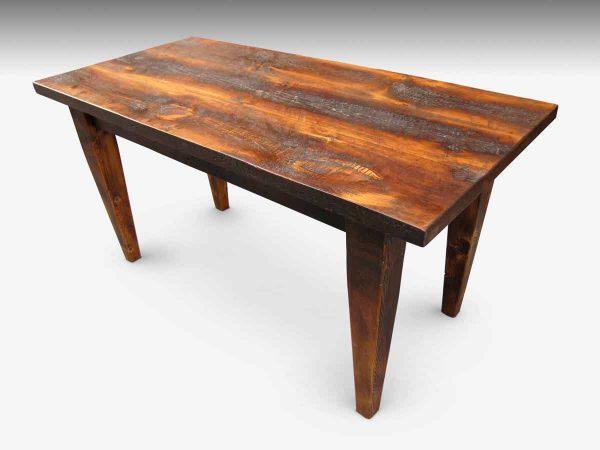Custom Rustic Farm Table with Tapered Legs - Farm Tables
