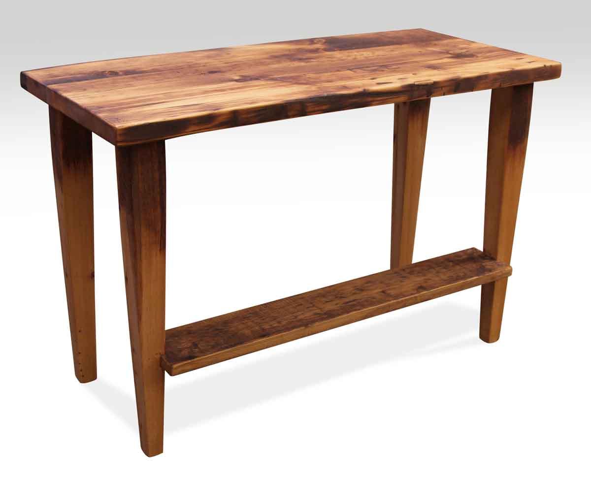 Narrow Reclaimed Pine Desk