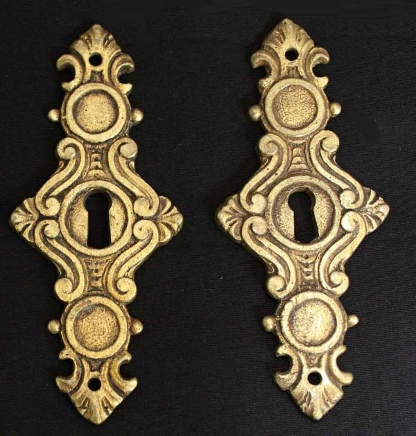 Bronze Decorative Keyholes from Belgium - Keyhole Covers
