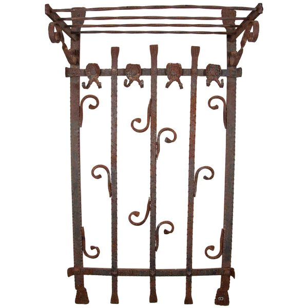 Heavy Wrought Iron Wall Rack - Entry Way