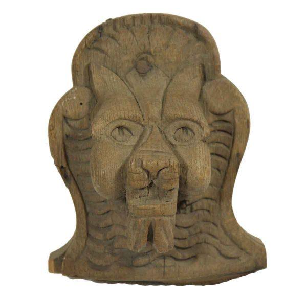 Wood Carved Lion - Applique