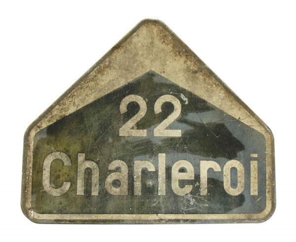 French Sign 22 Charleroi - Vintage Signs